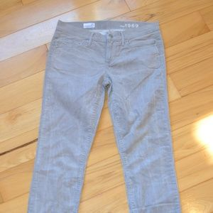 Gap 27 always skinny corduroy pants light gray